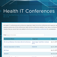 Health IT Conferences Homepage